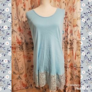 Torrid Baby Blue Lace Tank Size 4